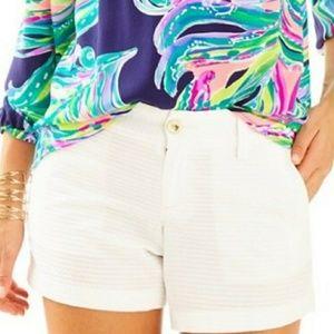 NEW LILLY PULITZER callahan sz 12 white shorts